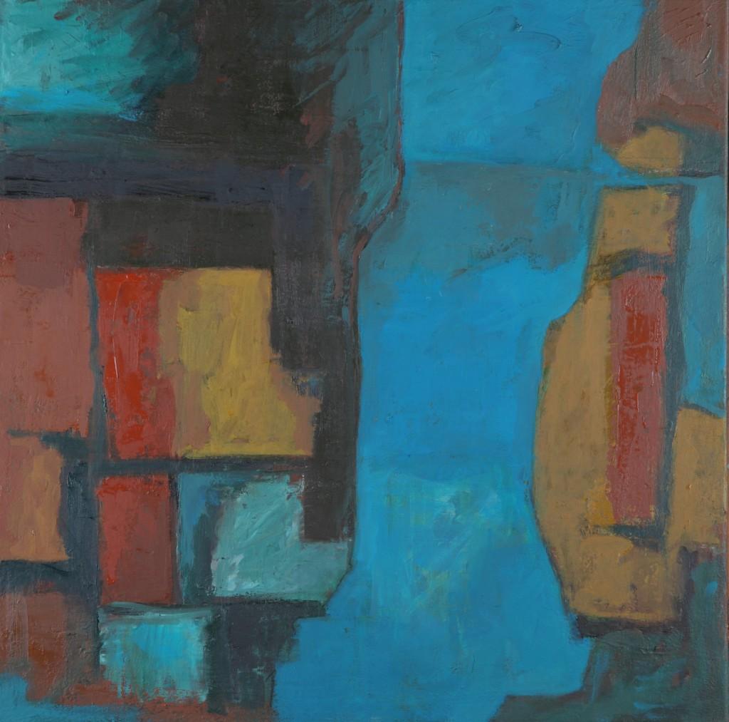 Blue Light - Oil on canvas 56x56cm