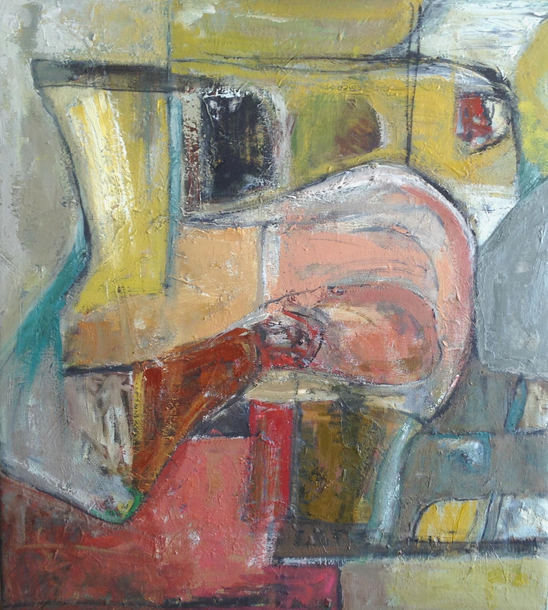 Ritual - Oil on canvas 76x69cm